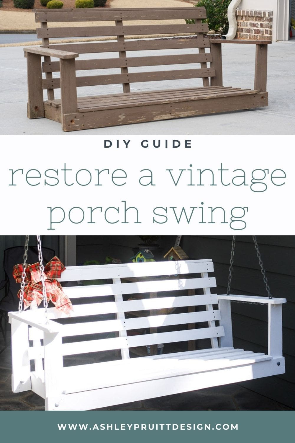 Giving New Life to a Vintage Porch Swing