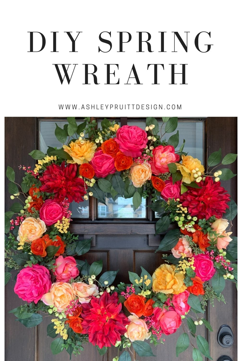 Make A Spring Wreath For Your Front Door