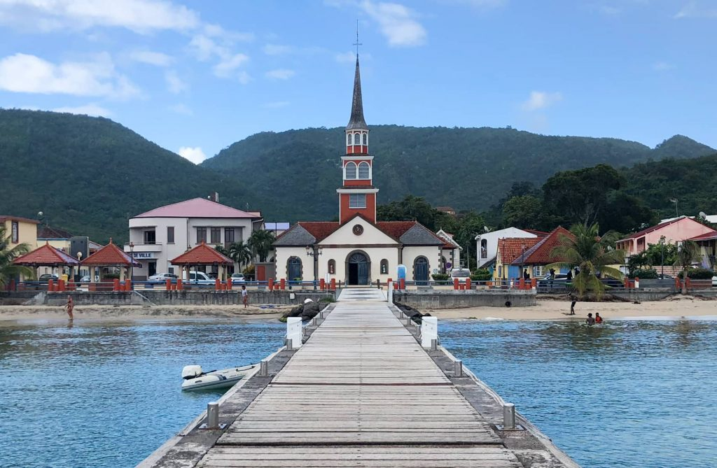 Martinique church pier