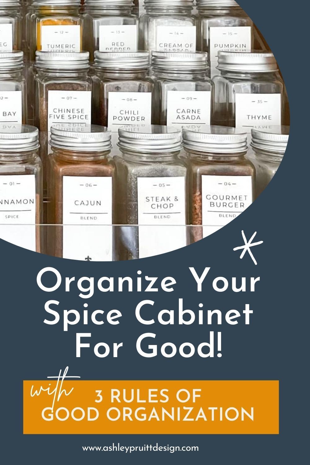Organize The Spice Cabinet Using My 3 Simple Rules
