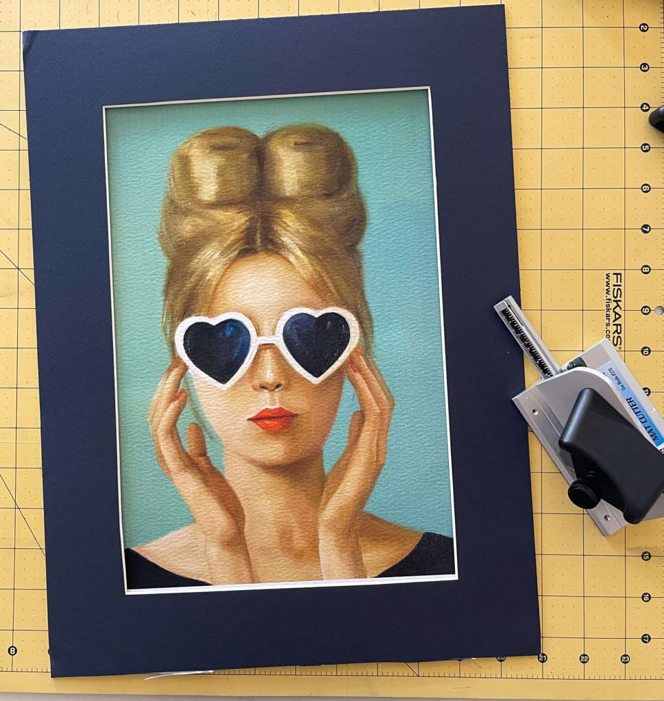 diy mat cut for picture frame