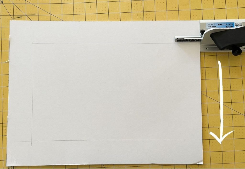 draw cut lines with the mat cutting tool