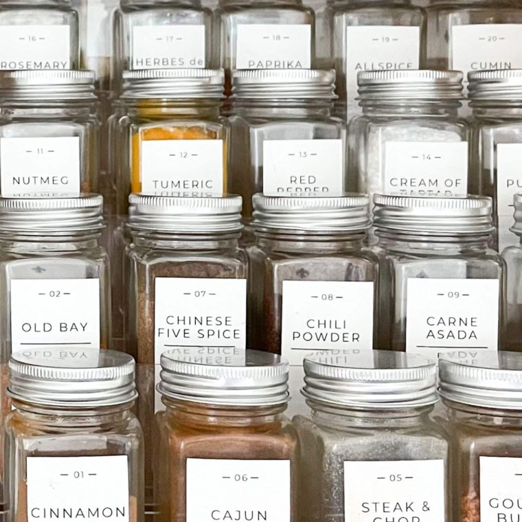 organize your spice cabinet
