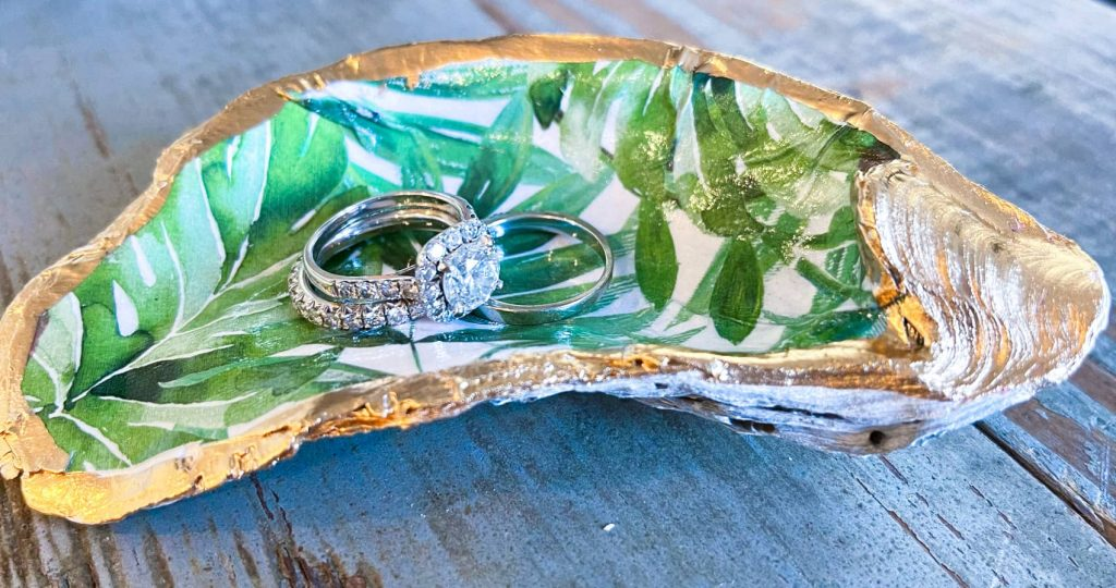DIY oyster shell jewelry dish