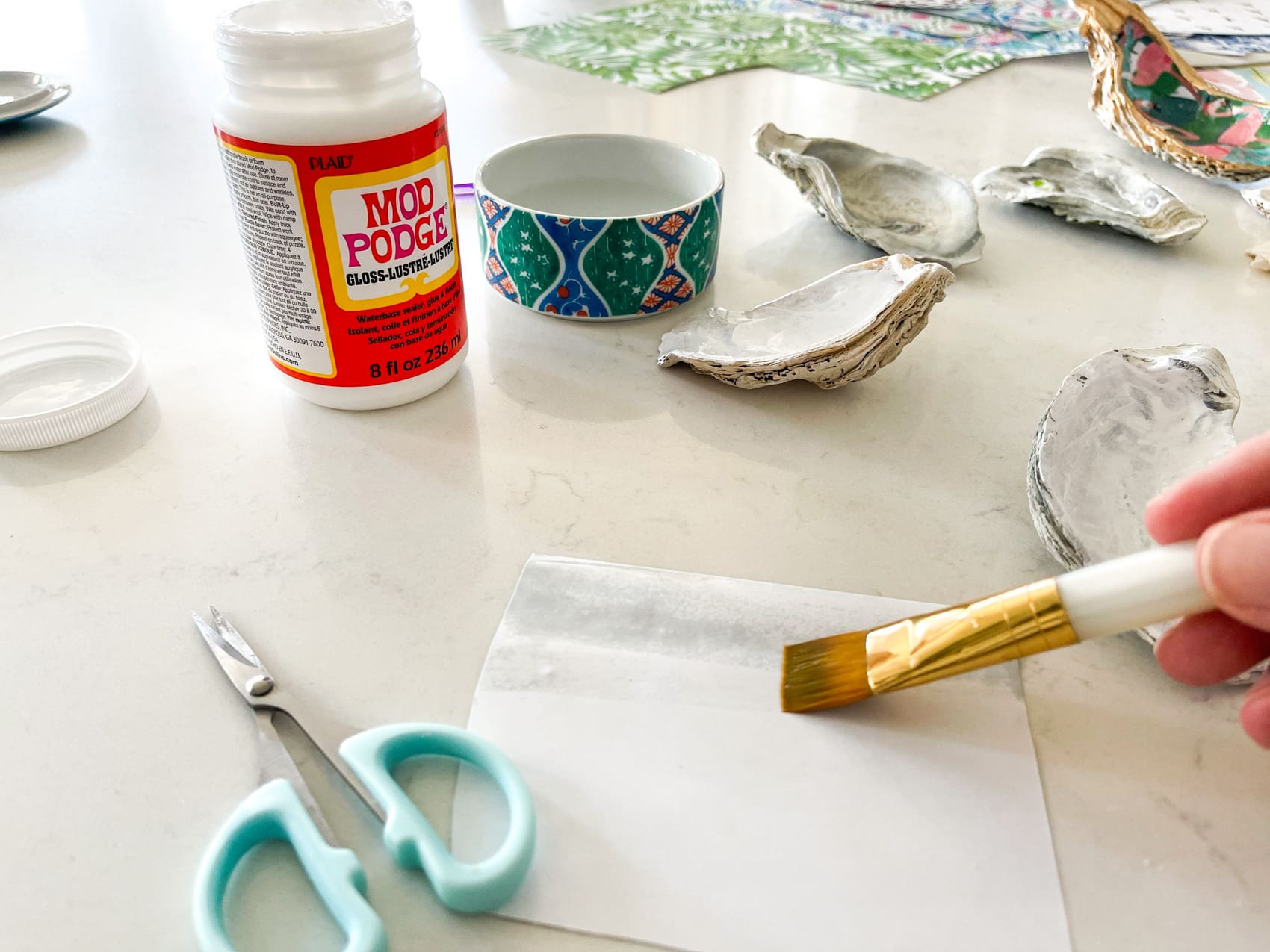 paint paper with water to soften