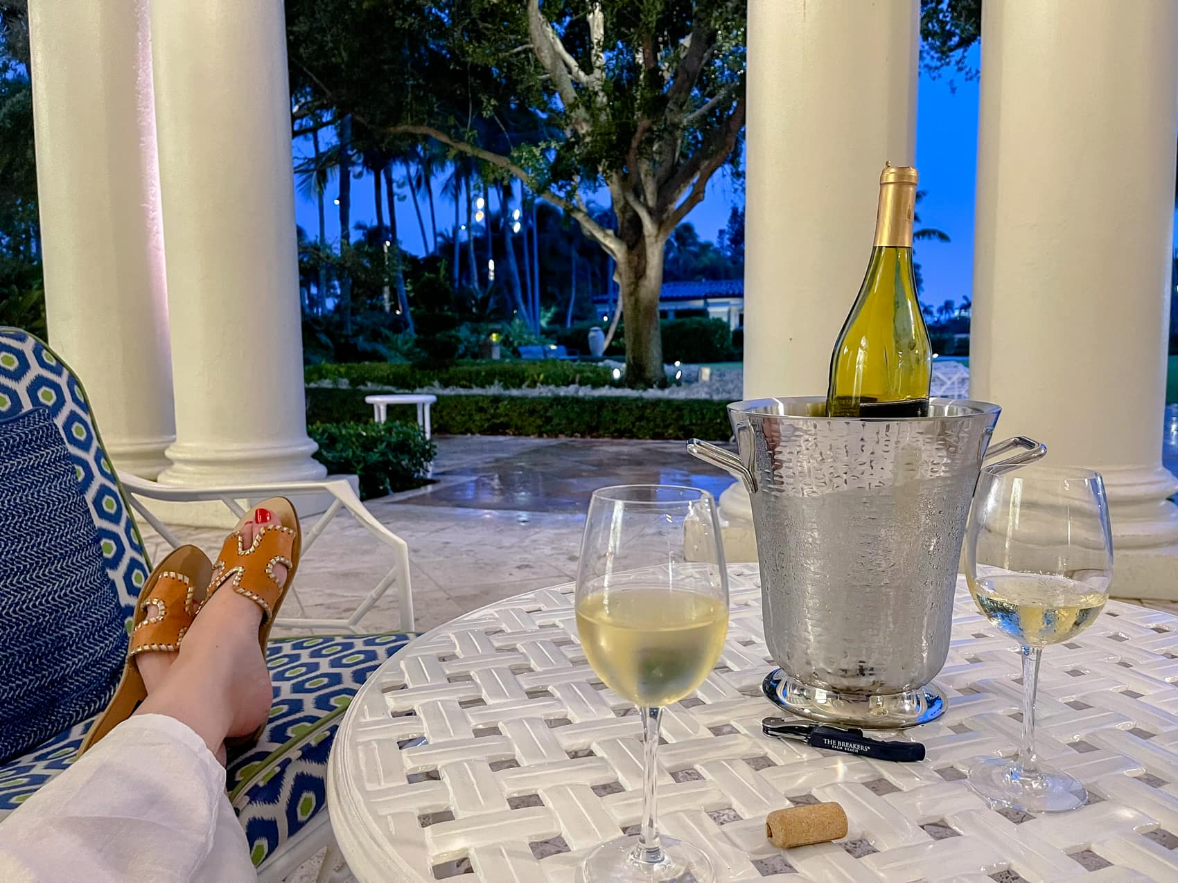 Wine at Palm Court The Breakers Palm Beach
