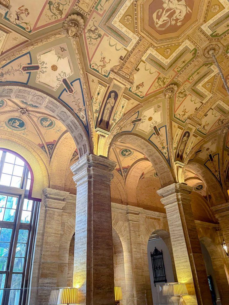 Handpainted ceilings in The Breakers Lobby