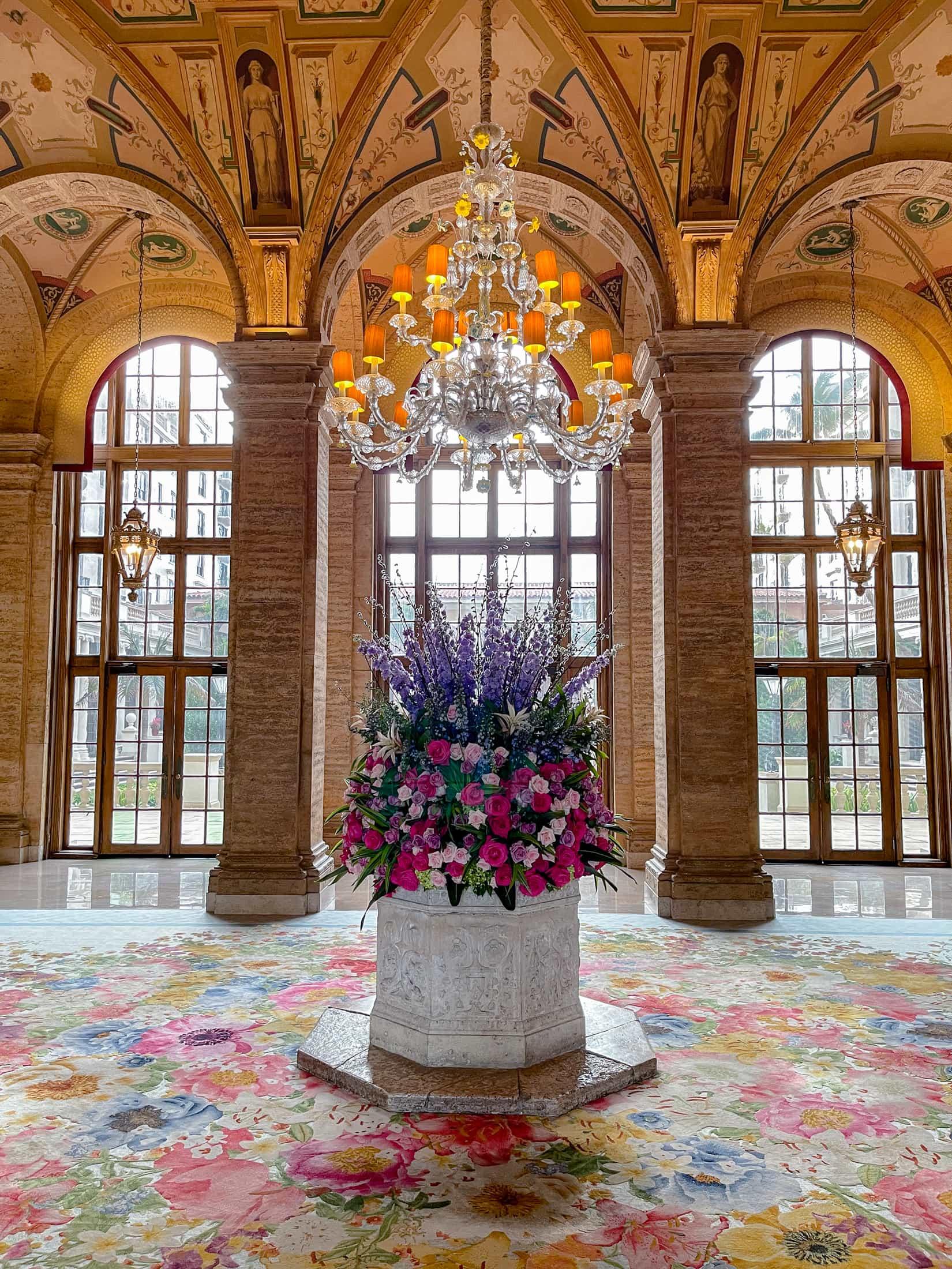 fresh flowers The Breakers Lobby