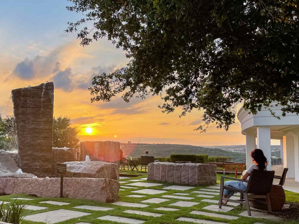 the best place to watch the Sunset over San Antonio Hill Country