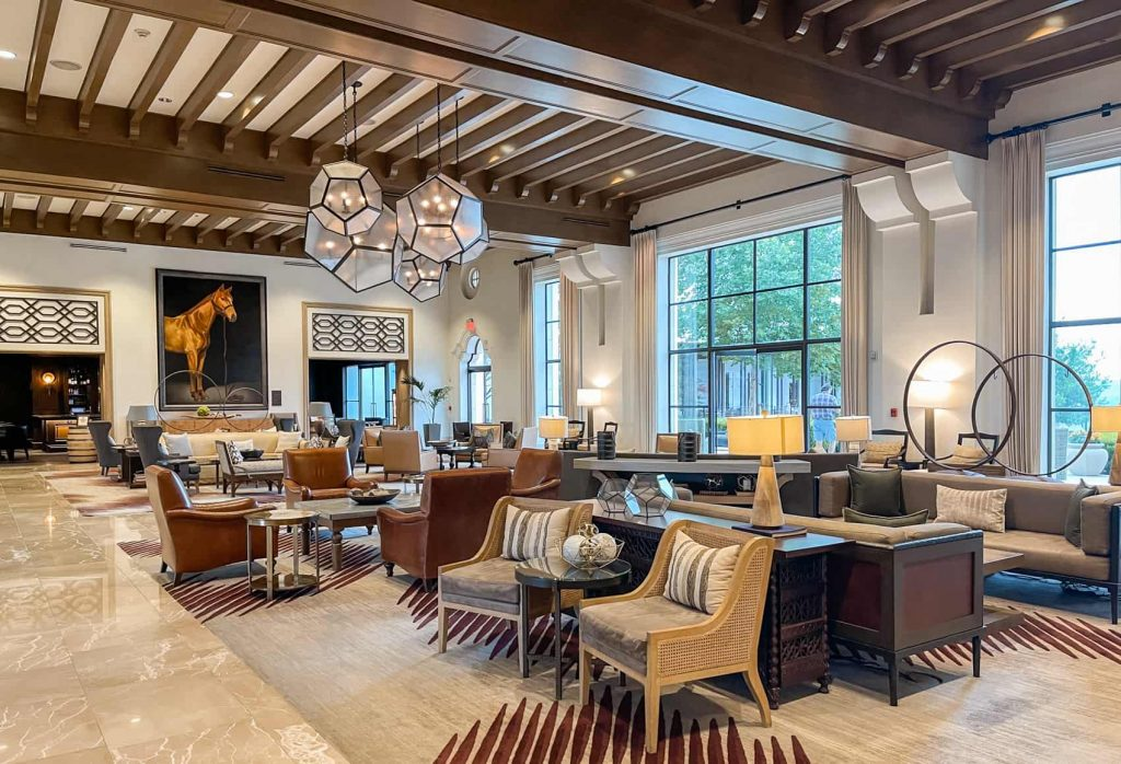 La Cantera lobby based on King Ranch
