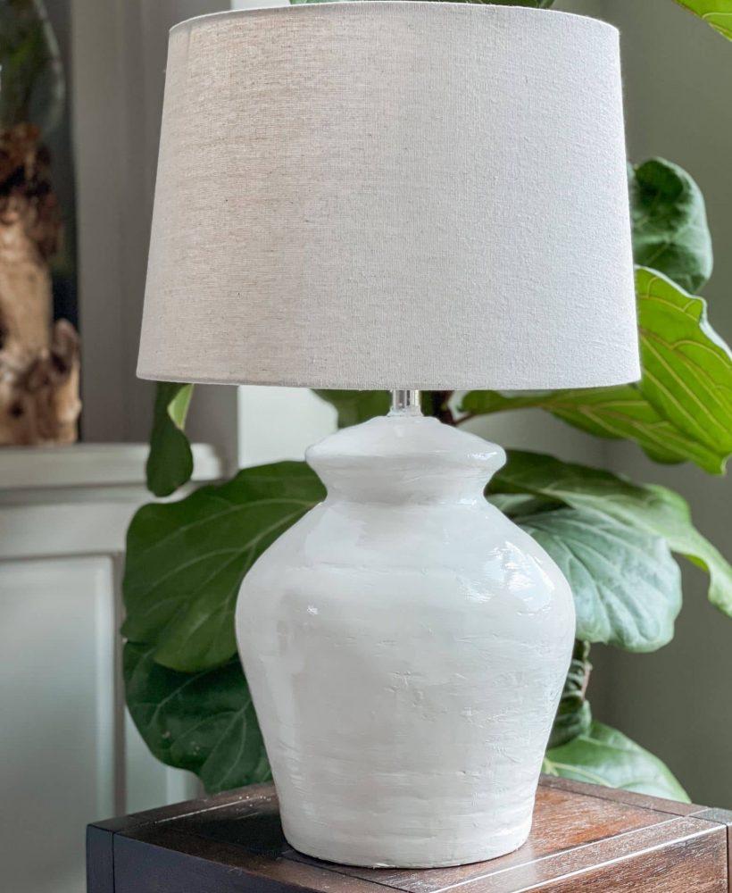 diy ceramic pottery lamp