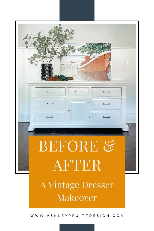 Before & After: White Vintage Dresser