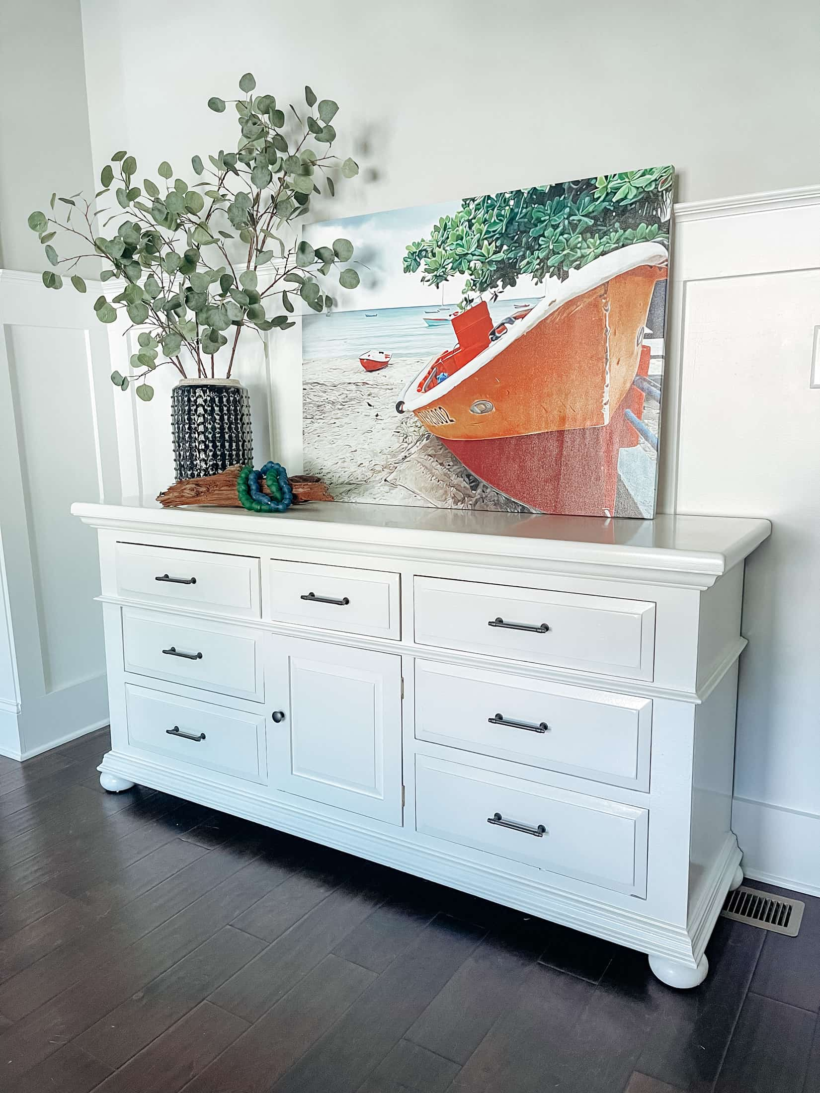 A vintage dresser gets new life with a coat of paint