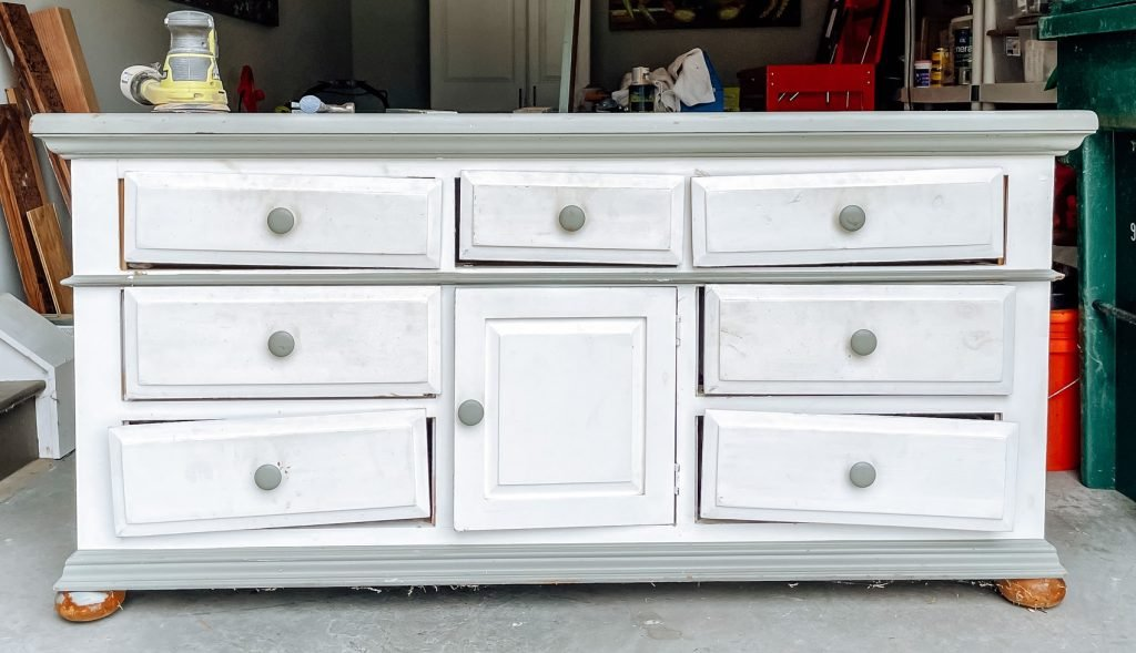 smooth finish on top of white dresser