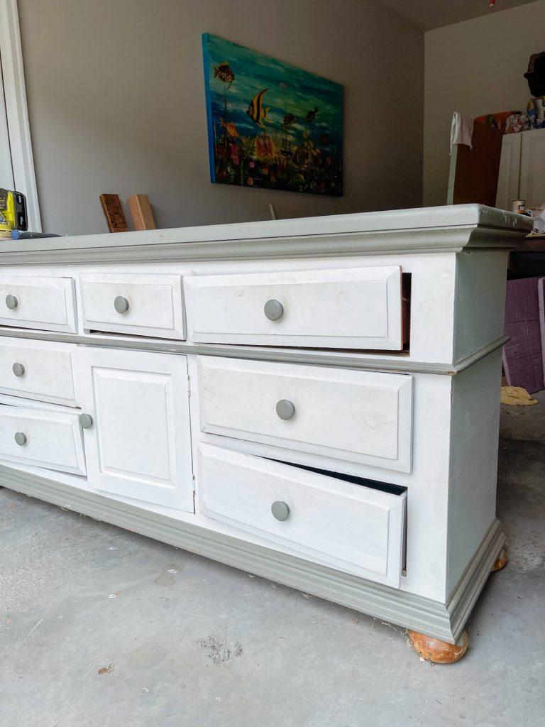 vintage dresser ready for a makeover