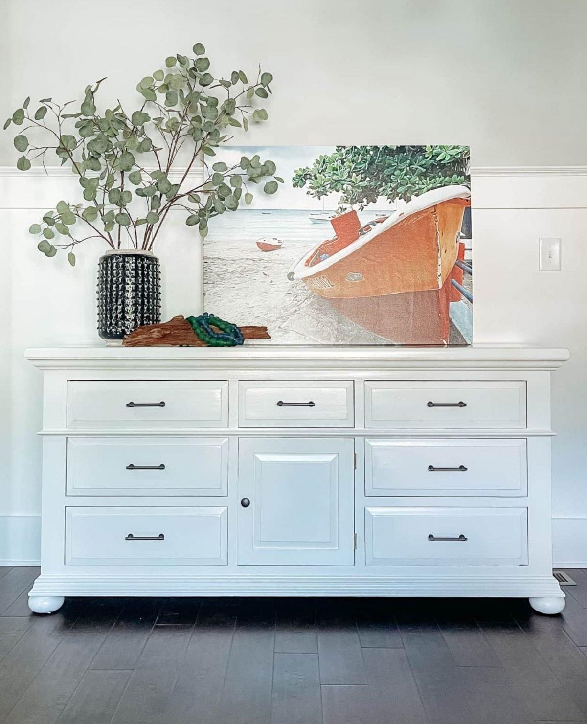 refinished vintage broyhill dresser